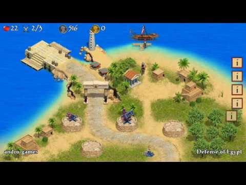 Defense of Egypt (by First Games Interactive) - strategy game for android - gameplay.