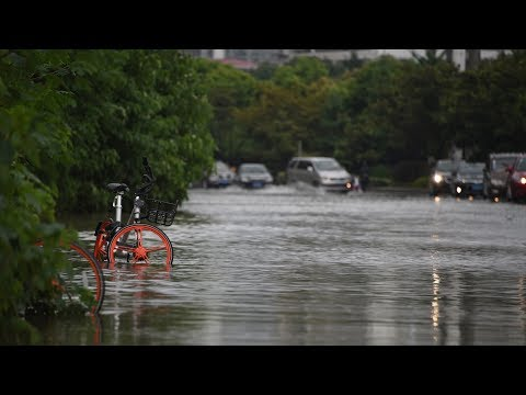 Heavy rainfall causes floods in central China