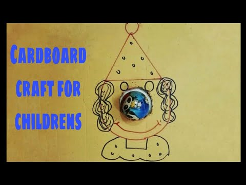 Gross Motor skill Activity for Kids With Cardboard Craft.
