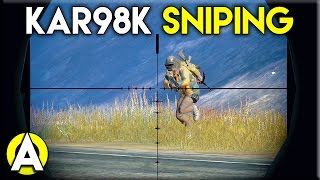 KAR98K SNIPING - PLAYERUNKNOWN'S BATTLEGROUNDS (Solo)
