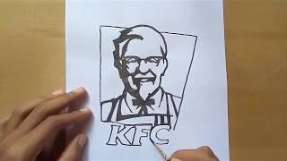 How to draw KFC logo | KFC Brand | logo Drawing