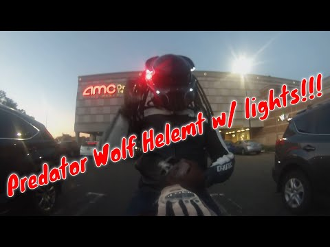 #predatorhelmet wolf Glowing high speed light test to Menlo Park Mall NJ extra video