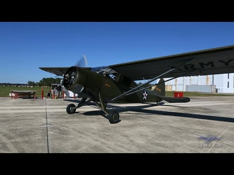 Stinson L-1 - Start Up and Flight - Kermit Weeks