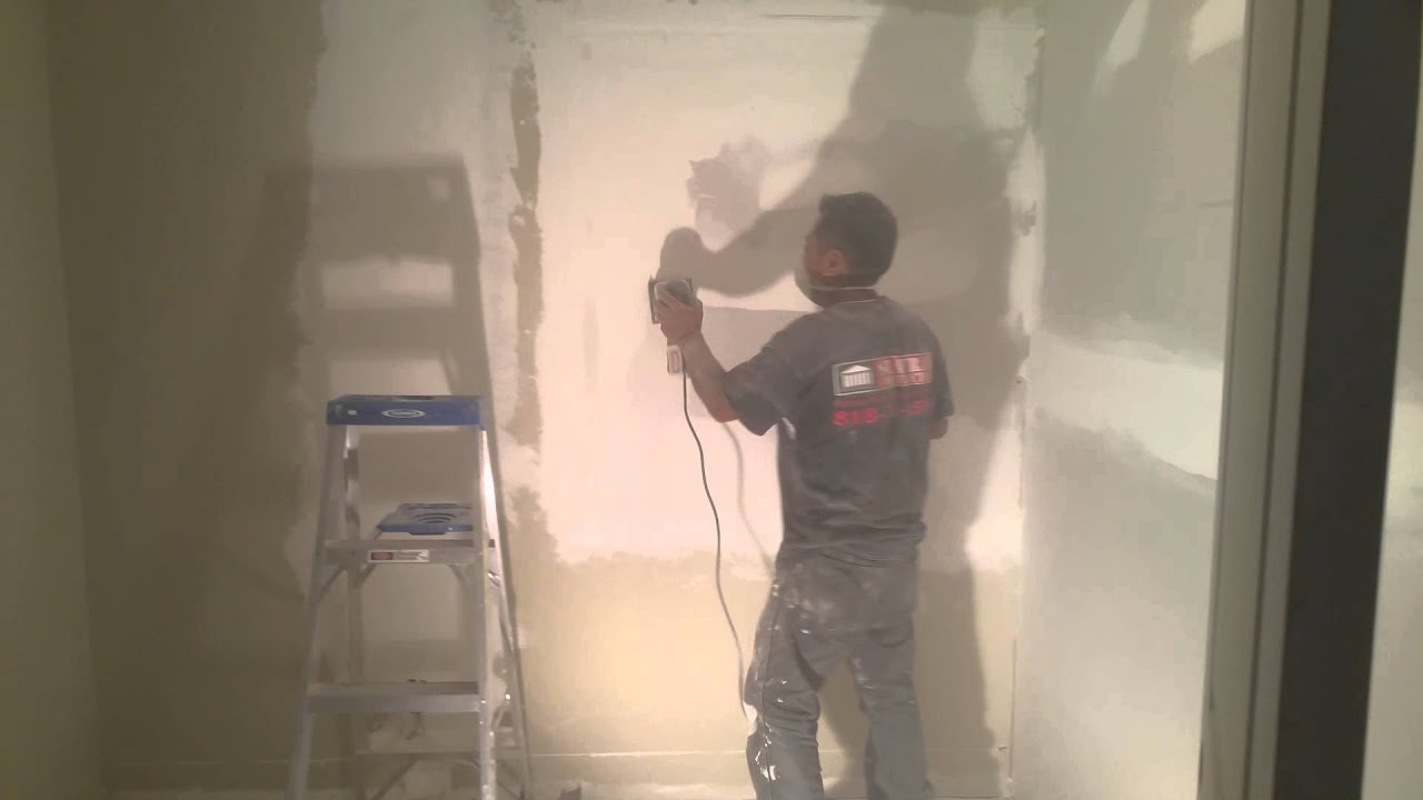 How To Sand Down Drywall With A Electric Sanding Machine