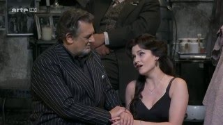 Lauretta (Andriana Chuchman) is asking her father (Placido Domingo)...