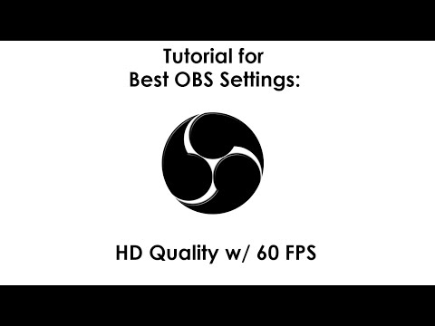 best obs settings for 720p