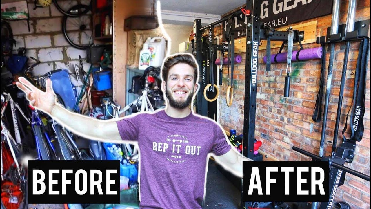 Worlds greatest garage gym tour before and after youtube