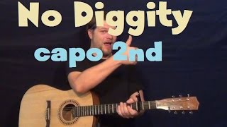 No Diggity (Blackstreet ft. Dr. Dre, Queen Pen) Easy Strum Guitar Lesson Tutorial Capo 2nd Fret