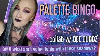 My BEST FRIEND Picks My Eyeshadow- Palette Bingo- Makeup Revolution Galaxy Palette