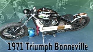Clymer Manuals 1971 Triumph Bonneville Bonnie Vintage Retro Classic Rigid Chopper Motorcycle Video