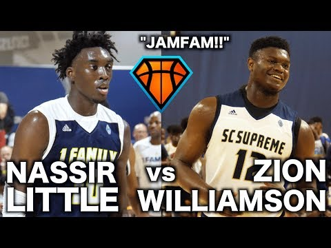 JamFam's Zion Williamson & Nassir Little FACE OFF in a BATTLE Between 1Family & SC Supreme!!