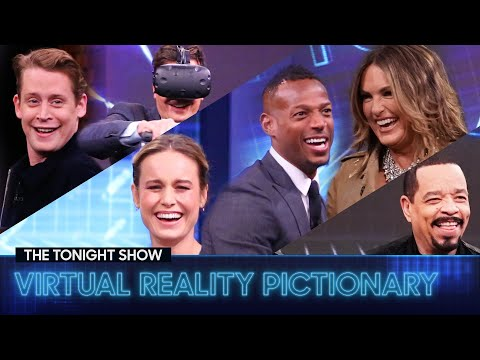 Tonight Show Virtual Reality Pictionary with Brie Larson, Marlon Wayans, Ice TandMore