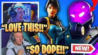 "TFUE & STREAMERS REACT TO *NEW* ""TEMPEST & ""BOLT"" SKINS! 