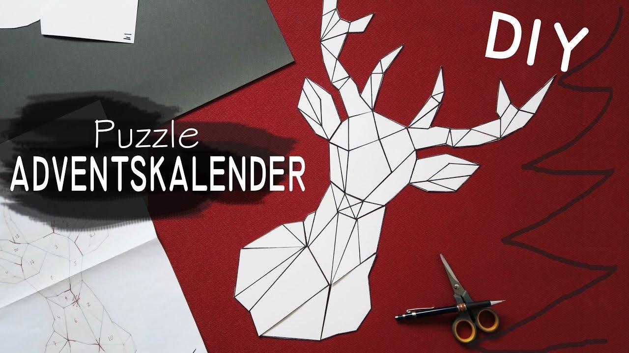 diy puzzle adventskalender geometrischer hirsch youtube. Black Bedroom Furniture Sets. Home Design Ideas