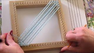 Beginners Tutorial. Weaving your first square with a Pin Loom.