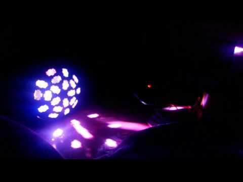 ADJ Vertigo HEX LED with DIY LED rotary stroboscope