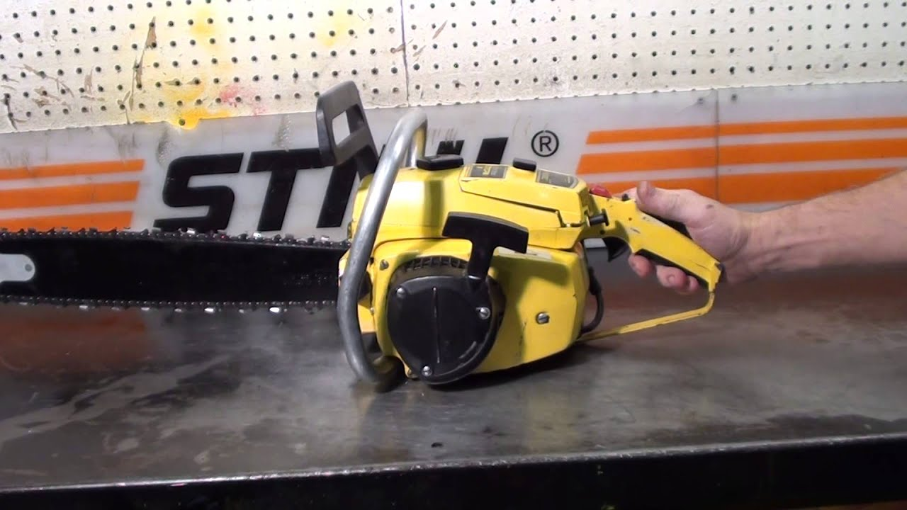 medium resolution of the chainsaw guy shop talk mcculloch pro mac 10 10 chainsaw 9 25
