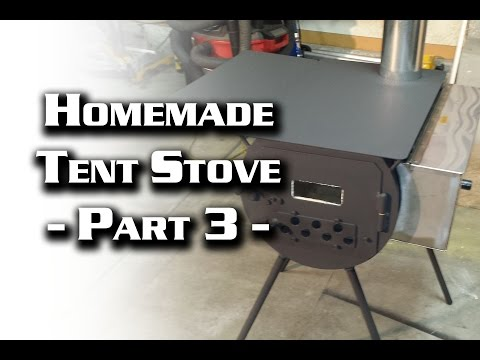 Building a Wall Tent Stove Part 3 (Cylinder Stove)