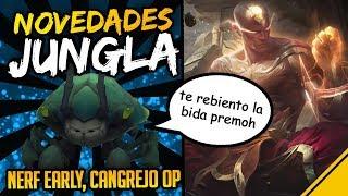 GRANDES CAMBIOS A LA JUNGLA Y EL CANGREJO ESCURRIDIZO - Noticias League Of Legends LoL Jota