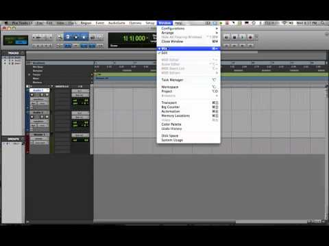 Pro Tools for Beginners:  Setting up a record session in ProTools pt.1