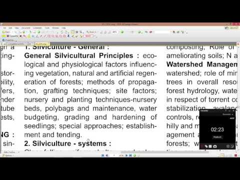 Forestry silviculture paper 1 part A