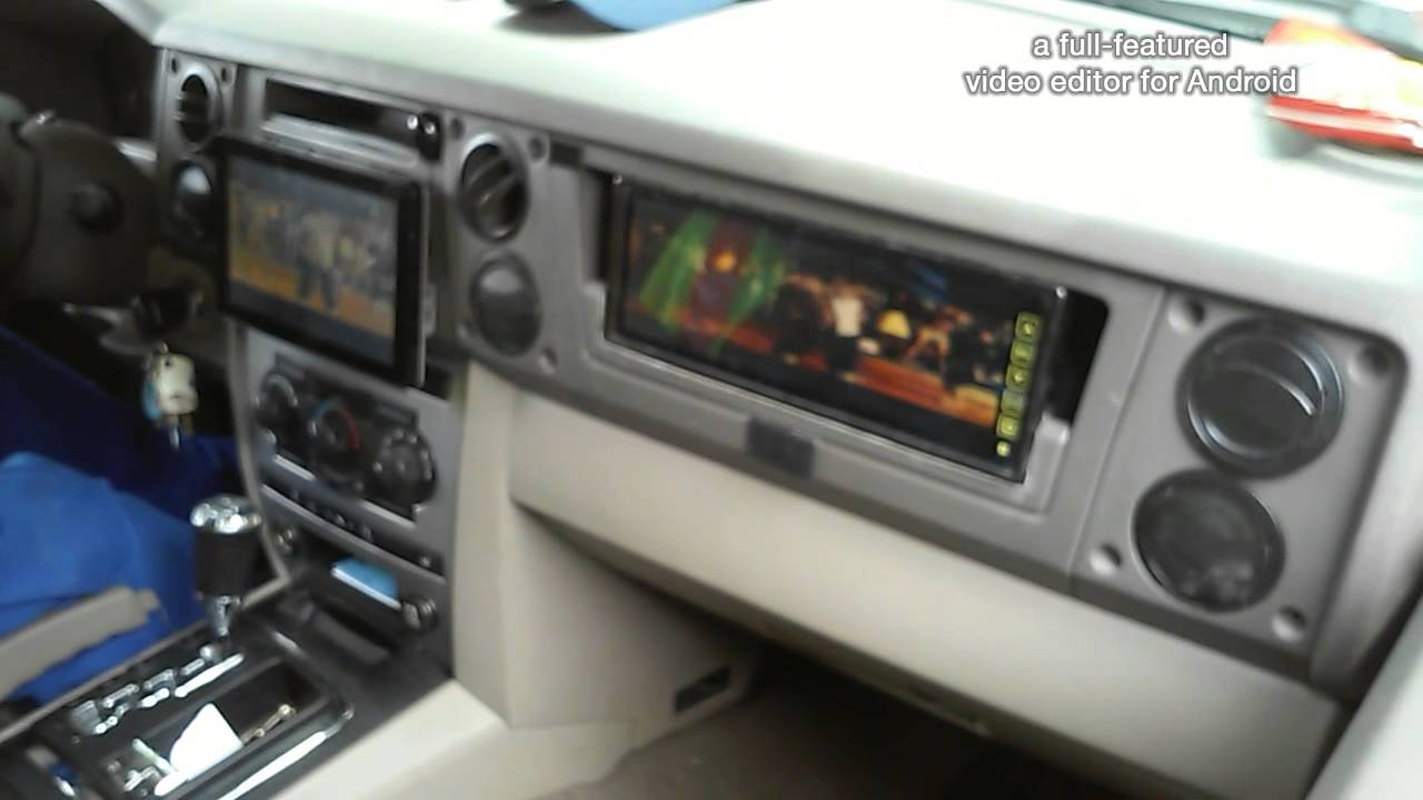 2005 jeep commander with tv in glove box - YouTube
