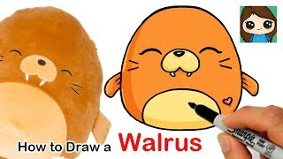 How to Draw a Baby Walrus Easy | Squishmallows