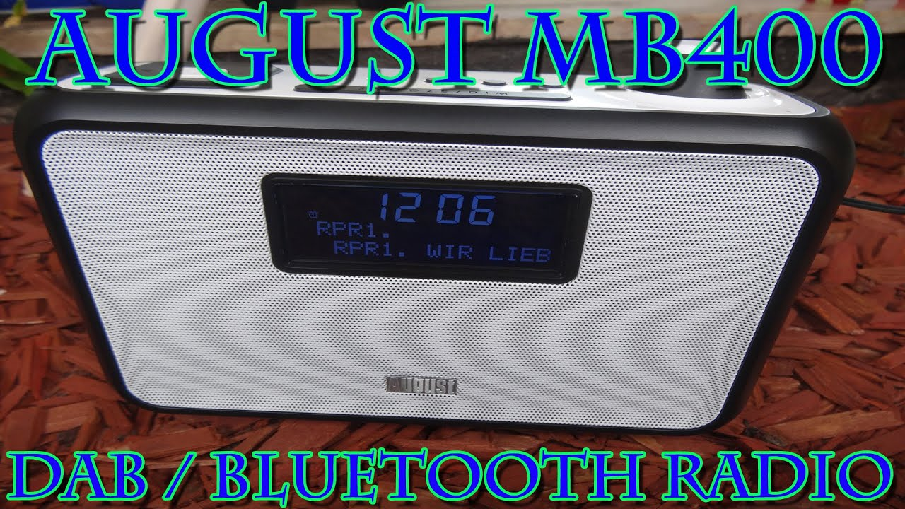 august mb400 dab radio mit bluetooth vorstellung youtube. Black Bedroom Furniture Sets. Home Design Ideas
