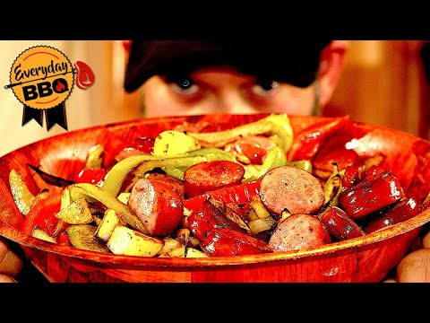 Blackstone Griddle Recipe - Sausage, Onion, Peppers And Potatoes - Easy & Fast Recipe - Everyday BBQ