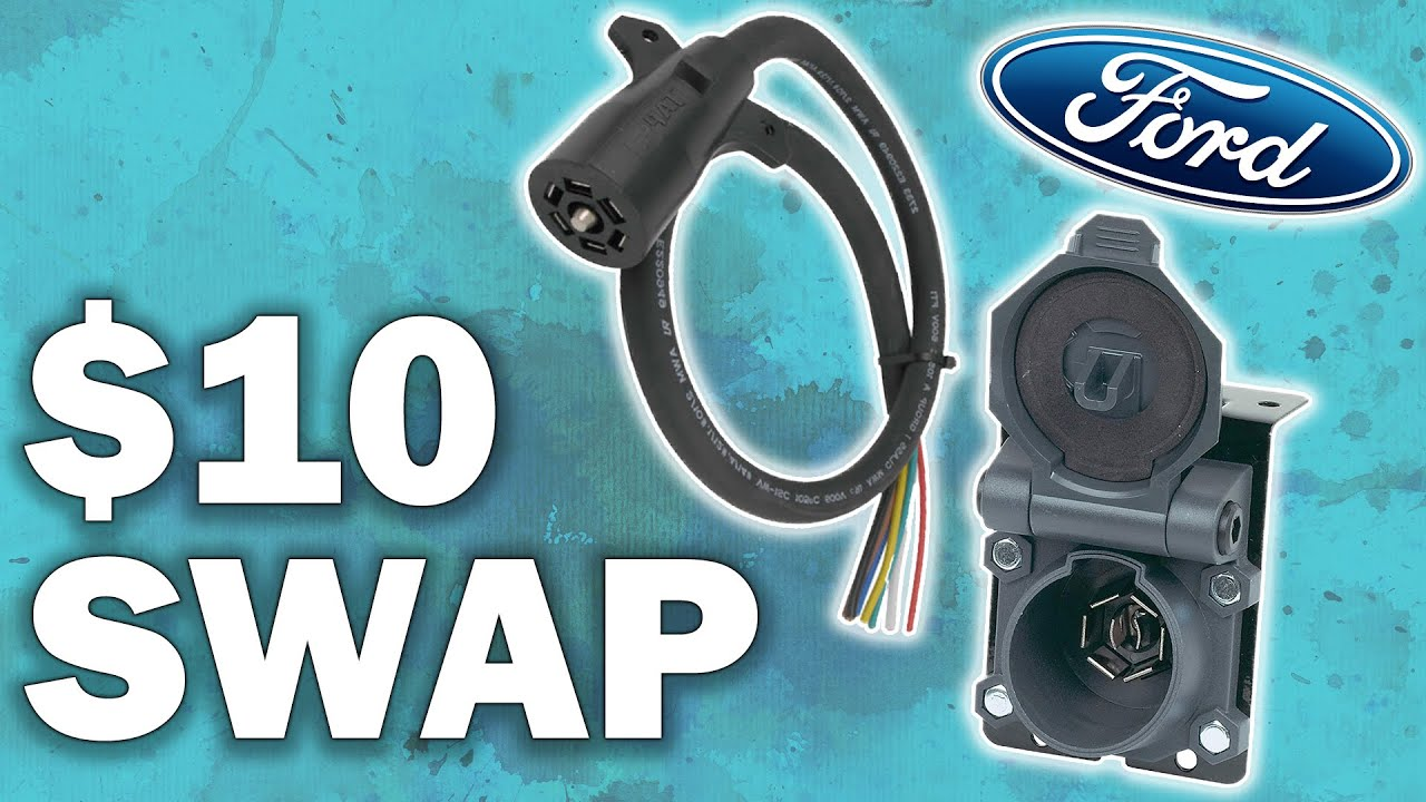 Replacing 7 Way Trailer Connector On 2005 Ford F250 Youtube