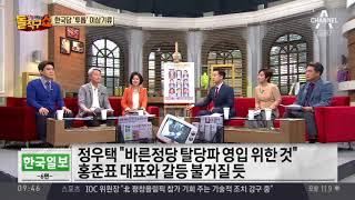 친박 편 든 정우택…자유한국당 투 톱 충돌