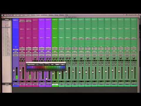Color Coding tracks and Wide Meters in Pro Tools