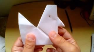 Como fazer galinha de papel - origami, dobradura de papel fácil e divertido -Cientificamente Enzo