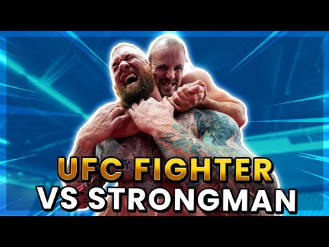 Watch Hafthor Bjornsson Hold His Own While Grappling With UFC Fighter Gunnar Nelson