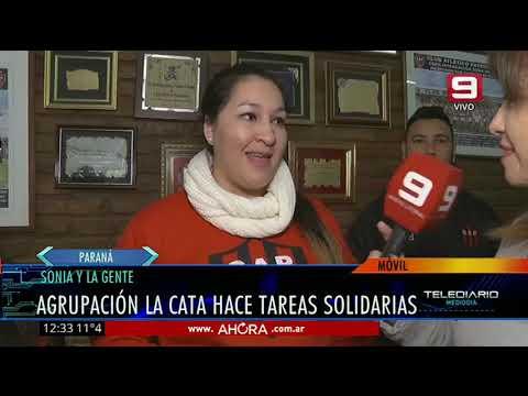 Sonia y la Gente: Agrupación La Cata hace tareas solidarias