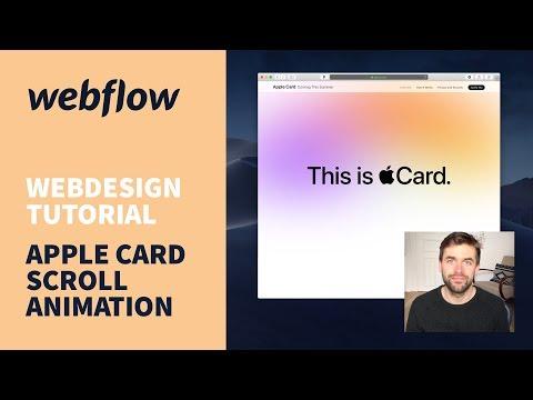 Apple Card Scroll Animation Mit Webflow Bauen – Webdesign Tutorial