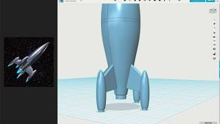 Rocket Ship 123D Design Tutorial (Sketch + Revolve)
