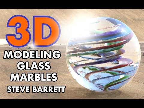 MODO 11: 3D Photorealistic Glass Marble - Procedural Modeling Tutorial (2018)