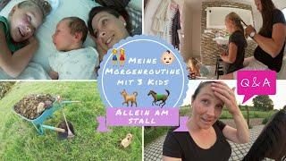 Morgenroutine mit 3-Wochen-Baby & 2 Kleinkindern |Ganz normaler Wahnsinn | Familien-VLOG