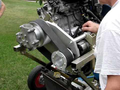 Psru Belt Reduction Drive For Honda Moto Bike Engine Youtube