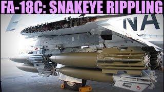 FA-18C Hornet: Snakeye High Drag Ripple Bombing Tutorial | DCS WORLD