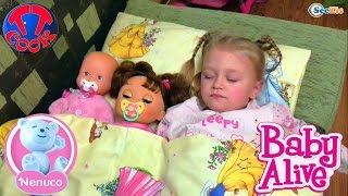 ✔ Nenuco and Alive. Ярослава укладає своїх ляльок спати / Dolls are going to bed with Yaroslava ✔