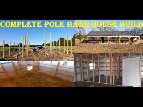How To Build A Pole Barn House Youtube