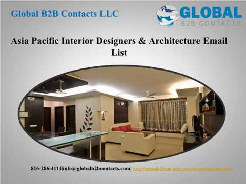 Asia Pacific  Interior Designers & Architecture Email List