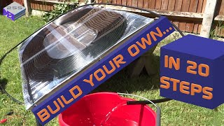 How to make a Solar Pool Water Heater - Part 1 - Full build and Test in the UK