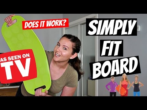 Simply Fit Board As Seen On TV  Does It Really Work? Fitness Test Friday