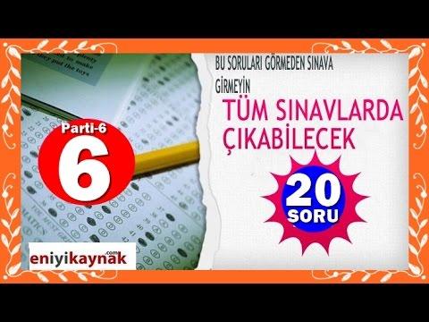 Tüm Sınavlar Çıkabilecek 20 Genel Kültür Sorusu MUTLAKA İZLEYİN- parti-6