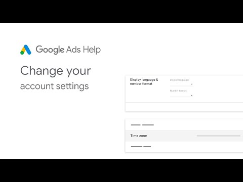 Google Ads Help: Change your account settings