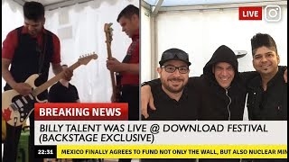 """🔥Billy Talent LIVE Backstage ❰Practicing """"Viking Death March""""❱"""