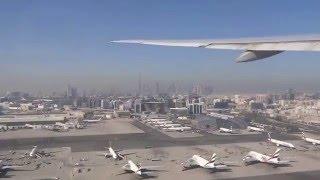 Emirates B777 taxing & take-off DXB Airport 22.04.2016 Dubai/United Arab Emirates